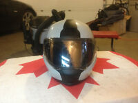 BMW helmet with retractable visor and open face