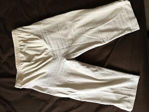 Motherhood maternity beige stretch Capri Length pants - size M