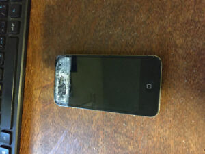 IPhone 4 (cracked screen but functioning)