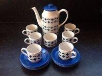 1960s Staffordshire coffee set