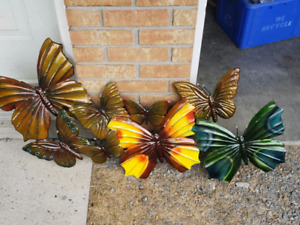 Metal butterfly decoration.