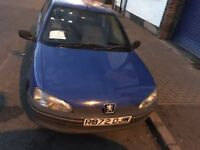 PEUGEOT 106 1.5 diesel 1997 STARTS AND DRIVES WELL