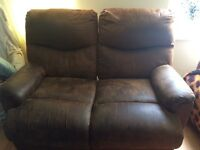 FREE TO COLLECTOR- reclining sofa & armchair