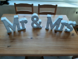 Mr and Mrs light up signs