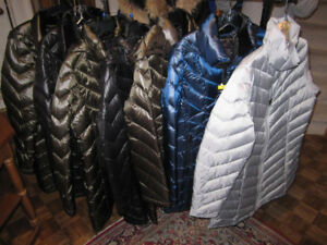 Ladies Down Winter Coats, Andrew Marc S,Lg.XL, Glacier, Med.