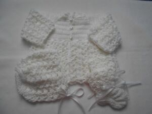 BRAND NEW HAND CROCHETED 3pc BABY SWEATER SETS