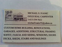 GOLD SEAL LICENSED CARPENTER WITH 30+ YEARS EXPERIENCE