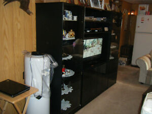 TV wall unit and coffee tables