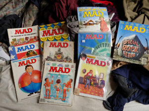 MAD Magazine collection, about 100 magazines
