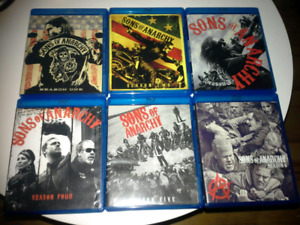 Sons of Anarchy seasons 1-6 on blu ray