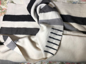 Rare 6 Point Hudson Bay Wool Blanket Queen Made in England