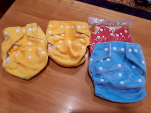 Reusable diapers. Size 2, 4, & 5 (2)