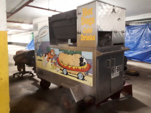 Hot Dog and Pizza Cart