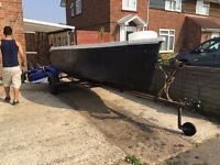 Fishing boat 15ft with trailer
