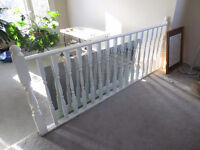 Oak Railing with Oak Spindles - Painted White