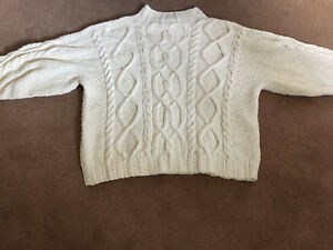 Big and tall plus size hand knit Arran cable knit sweater 3x 4x