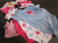 Onesies, Pekkle, girls, 3 Months, BNWT (incl. 4 onesies)REDUCED