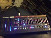 Roland ju-06( juno 106) and m audio code 25 midi controller keyboard