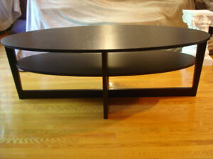 IKEA Vejmon Large Oval Black Coffee Table Rare