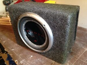 "10"" subwoofer and amplifier"