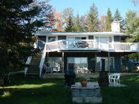 lake front Log cottage Laurentides - Prevost -lac renaud