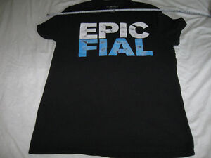 Epic Fail (Fial) t-shirt- Bluenotes-Great condition-Large + dvd