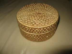 Vintage 1970 Woven Straw Coaster Set from Grandma's House