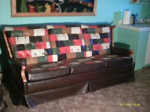 set de salon en cuir tres rare annee 1975 et foyer