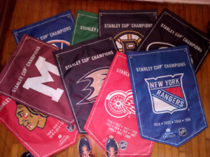 HOCKEY FLAGS FOR SALE $10 EACH.