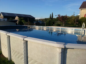 Above ground pool with Hayward filter and salt water system