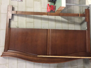King size Headboard with matching mirror