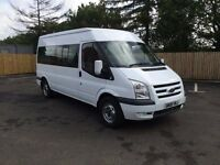 FORD TRANSIT T370 140BHP 15 SEATER MINIBUS 6 SPEED 88,000 MILES 1 OWNER FSH