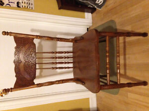 Antique pressed back chair