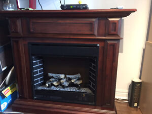 Fire Place Mantle with light and heater