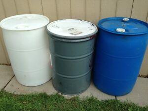 55 gallon barrels / drums