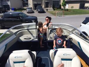 16' bayliner capri 90hp outboard with wake tower pole