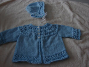 New Born Sweater and Bonnet- Blue