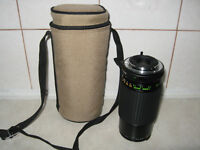 Makinon 55 mm camera lens f=80-200mm, zoom-1:4.5 with case and l