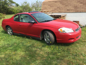 2007 Chev Monte Carlo for sale