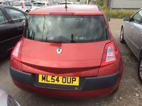 Renault Megane 1.4 VVT Expression 2004 model 3 dr 9 months mot only £899