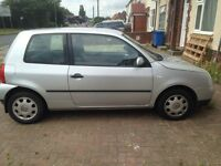 Volkswagen lupo 2003 1 litre only 65000 miles, silver, FSH perfect first car. Years MOT £900ono