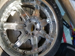 Set of 4 FALKEN ZIEX S/TZ 05 INCLUDED CHROME MAG'S ...4 SET OF M
