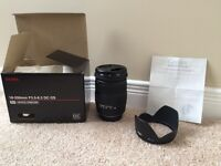Sigma 18-200 mm Camera Lens- brand new condition!