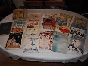 Vintage and Antique Sheet Music