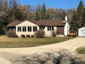 Newly renovated 1800 sq ft bungalow on 12 acres of old oak trees