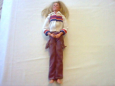Vintage Bionic Woman Jamie Sommers doll & clothes 1976 Kenner General Mills