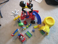 Mickey Mouse Clubhouse mega bloks and DVDs