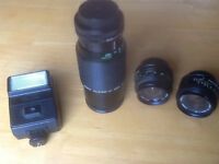Various Camera Lenses - for sale - For Film Cameras