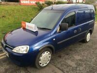 VAUXHALL COMBO 5 SEAT CREW CAB 5 5 SEATER VAN 1.7 SMALL BLUE VAN NO VAT 82K
