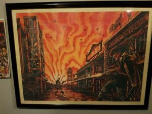 Queens of the Stone Age London Ontario Lithograph Tour /350 RARE